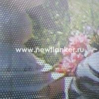Оклейка стёкол перфорированной плёнкой с печатью